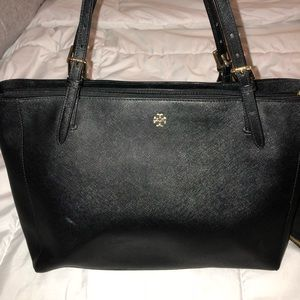 Tory Burch saffiano leather shoulder purse